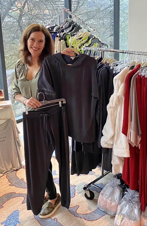 PJ Harlow Charcoal Loungewear Destiny Hoodie Top Size XL