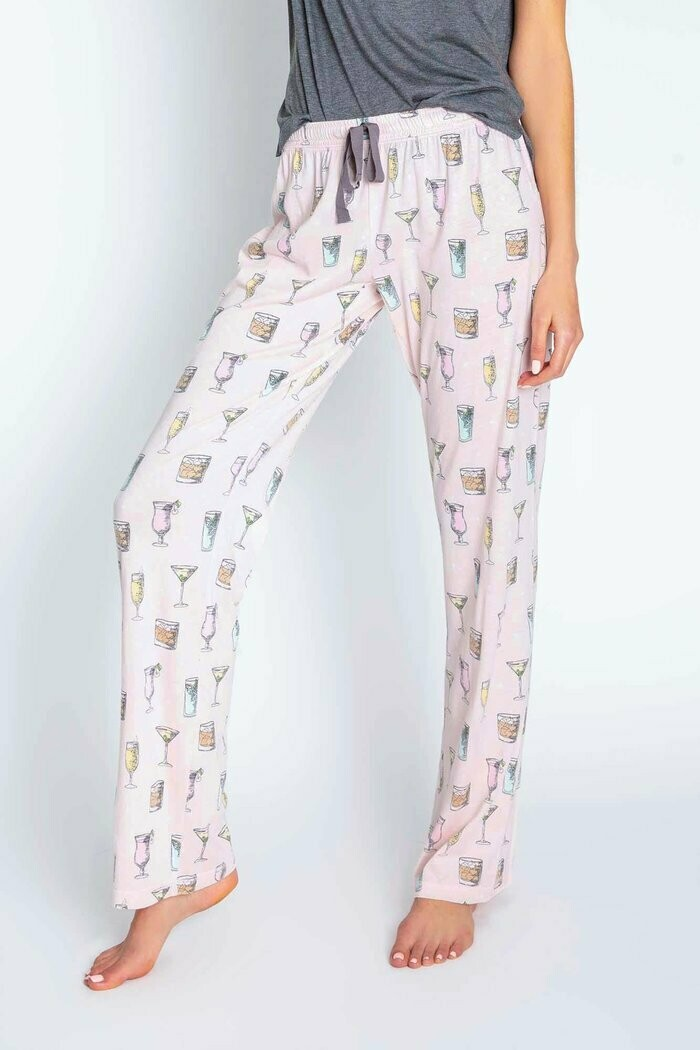 PJ Salvage Blush Cocktail Hour Draw String PJ Lounge Pant