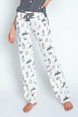 PJ Salvage Animal Lover Pajama Print Draw String PJ Lounge Pant