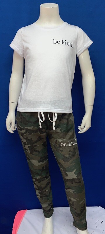 Be Kind Custom Kind Camo Pants-  Unisex-  Size 5/6