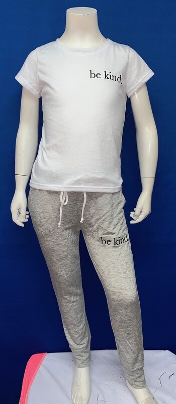 Be Kind Custom Grey Pant-  Unisex-  Size 5/6, 7/8, 10/12
