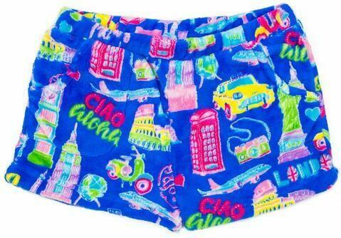 Blue Travel Fleece Shorts Size 10/12, 14/16