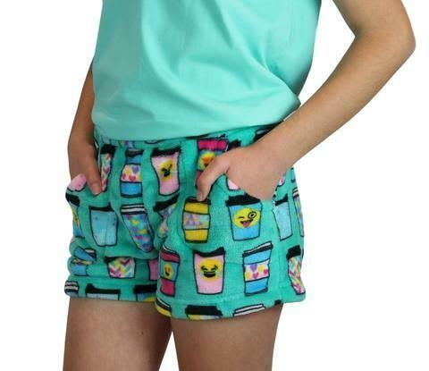 Green Hot Cocoa Fleece Shorts Size 4/5