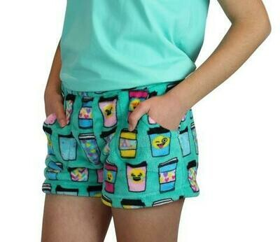 Green Hot Cocoa Fleece Shorts Size 4/5