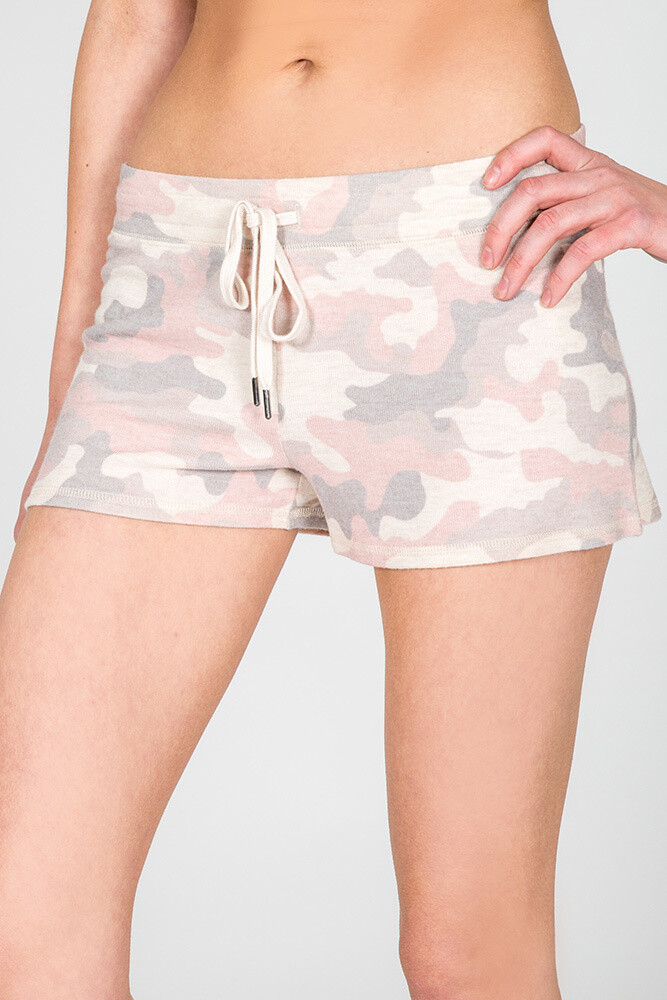 PJ Salvage Pink Camo Draw String Pajama Lounge Short Size XL   One Left