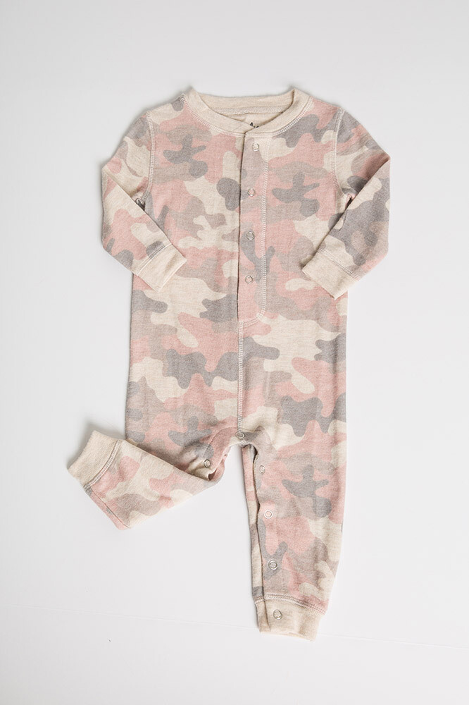 PJ Salvage Pink Camo Infant Onesie - Mother/Daughter/Infant  Size 3/6M  One left