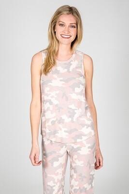 PJ Salvage Pink Camo Racerback Lounge Shirt Size XL