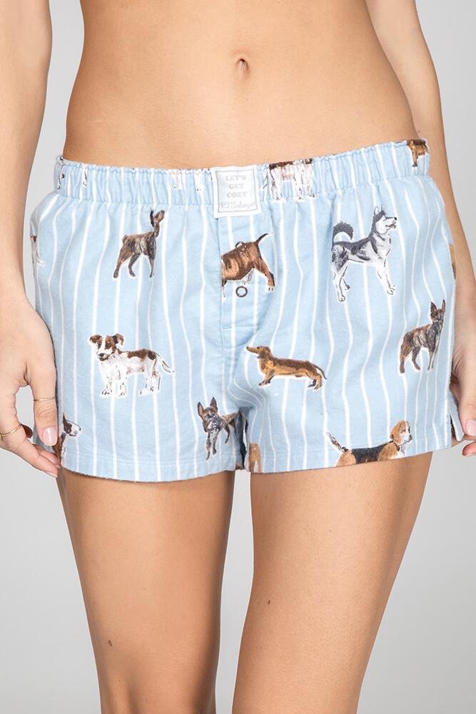 PJ Salvage Doggone Tired Soft Cotton Twill Pajama Short  XL