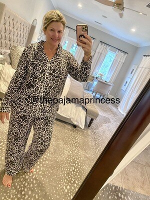Women's Modal Leopard Pajama Set Size 6, 10, 12
