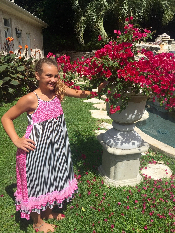Laura Dare Pink Reversible Zebra PJ Set  Size 2