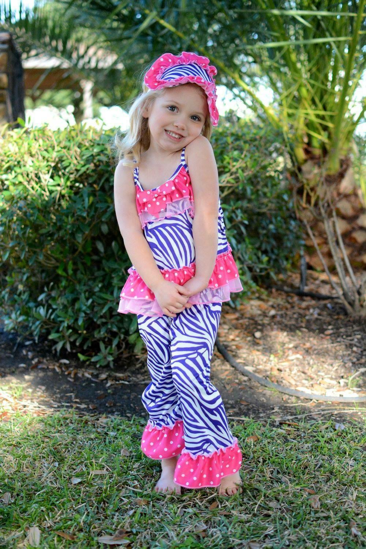 Laura Dare Pink and Purple Zebra PJ Set