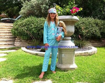 Laura Dare Blue Polka Dot PJ Set    Size 14