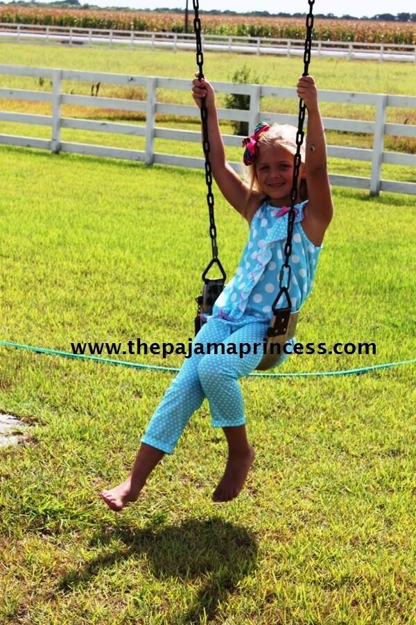 Laura Dare Blue Polka Dot Ruffle PJ Set  Size 3  Last 1