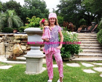 Laura Dare Pinkand Purple Zebra PJ Set  Size 4
