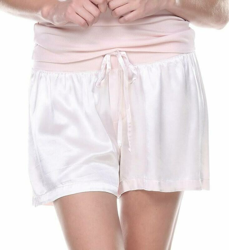 PJ Harlow Grey and Blush Satin Pajama Short -  size  XL Only 1 Left