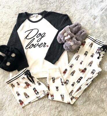 PJ Salvage Hip Hound Dog Ivory Pajama Lounge Shorts  Size  XS, L, XL