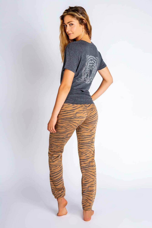 PJ Salvage Wild One Tiger Pajama Lounge Tee Shirt