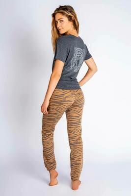 PJ Salvage Wild One Tiger Pajama Lounge Tee Shirt Size S, L, XL