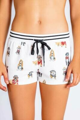 PJ Salvage Hip Hound Dog Ivory Pajama Lounge Shorts  Size  XL