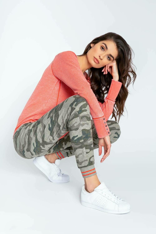 PJ Salvage Olive Command Camo Pajama Jogger Lounge Pant  Size L, XL