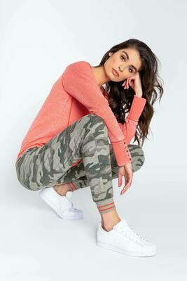 PJ Salvage Olive Command Camo Pajama Jogger Lounge Pant  Size XL