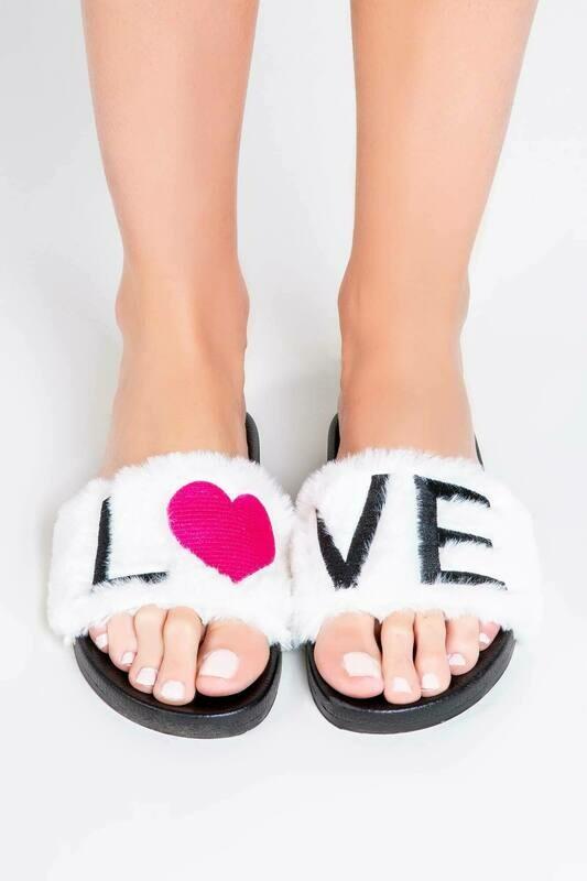 PJ Salvage LOVE Slipper Slides  Size 5/6 and 7/8
