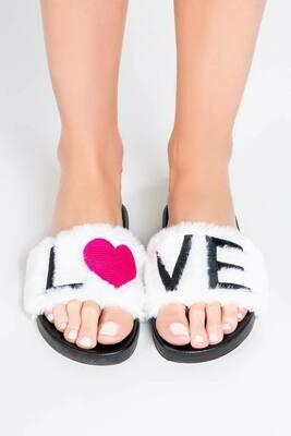 PJ Salvage LOVE Slipper Slides  Size 5/6