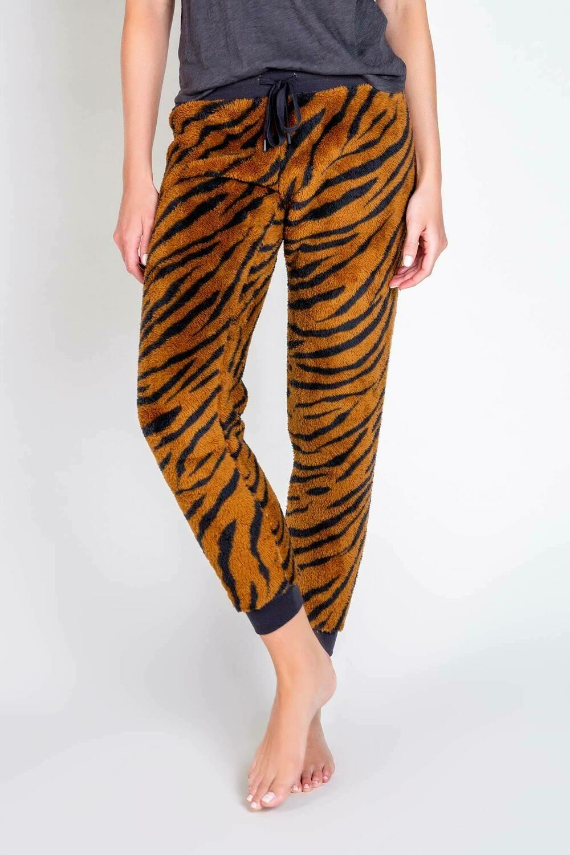 PJ Salvage Camel Tiger Pajama Cozy Lounge Pants