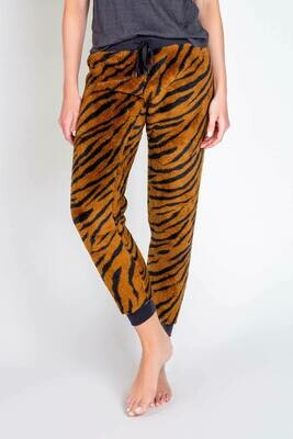 PJ Salvage Camel Tiger Pajama Cozy Lounge Pants
