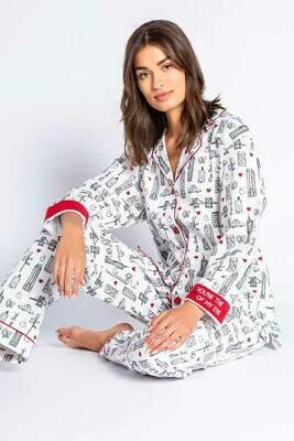PJ Salvage New York Flannel PJ Pajama Lounge Set