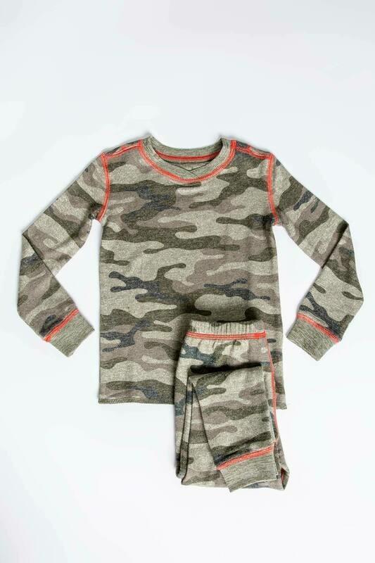PJ Salvage Command Olive Camo Children's Pajama Set - Mother/Daughter/Son - Sizes 2 thru 10