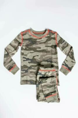 PJ Salvage Command Olive Camo Children's Pajama Set - Mother/Daughter/Son - Sizes 2 thru 10