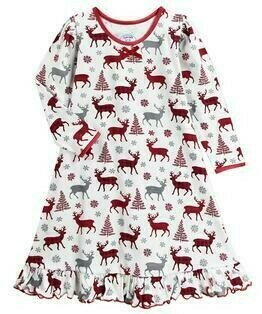 Saras Prints Super Soft  Holiday PJ Nightgown Size 2,3,4,14