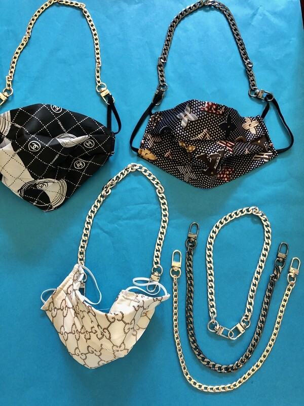 Chains for Fun Masks- Silver, Gold, Pewter - Almost Gone!