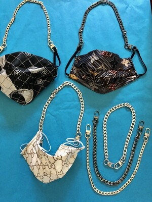 Chains for Fun Masks- Silver, Pewter - Almost Gone!