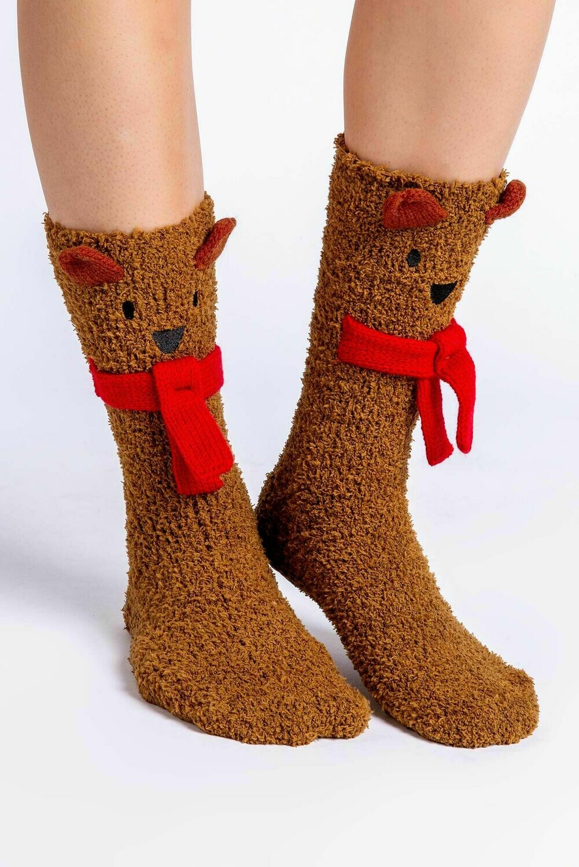 Fun NonSlip Snow Flake Socks