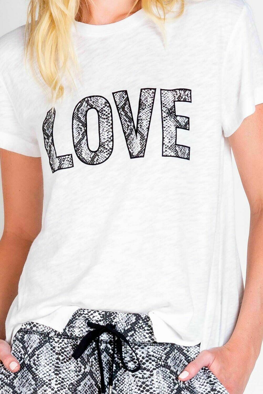 PJ Salvage City Nights Pajama Lounge LOVE Tee Size S, M, XL