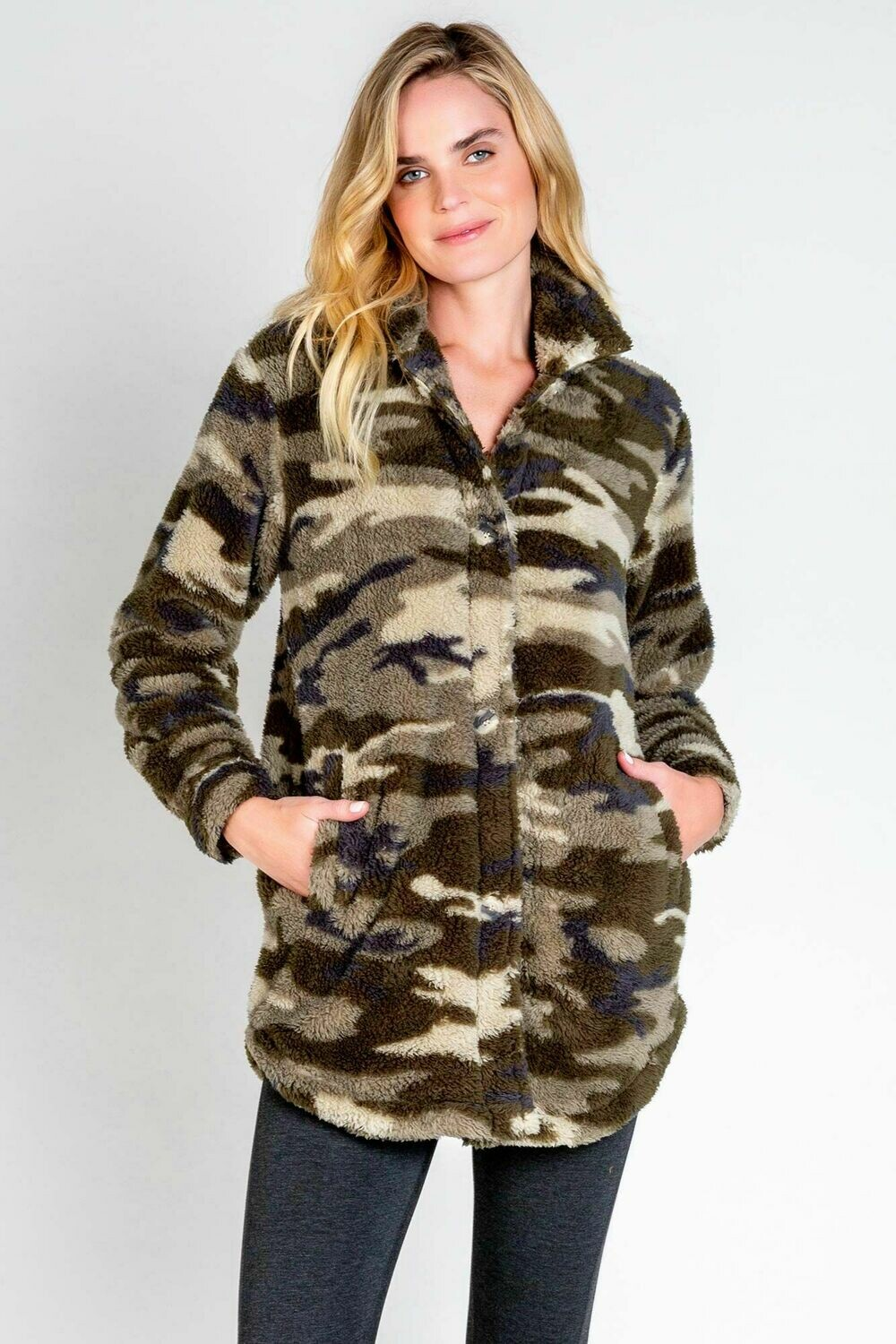 PJ Salvage Cozy Camo Lounge Jacket