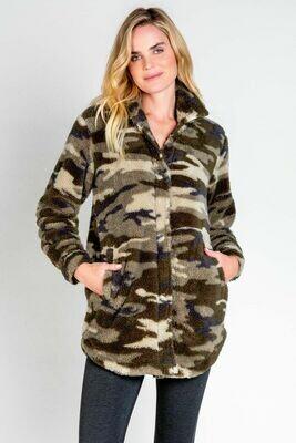 PJ Salvage Cozy Camo Lounge Jacket Size M, L, XL