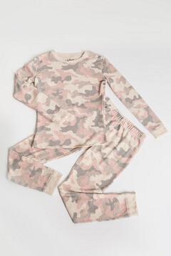 PJ Salvage Pink Camo 2 Piece Pajama set  Size 4