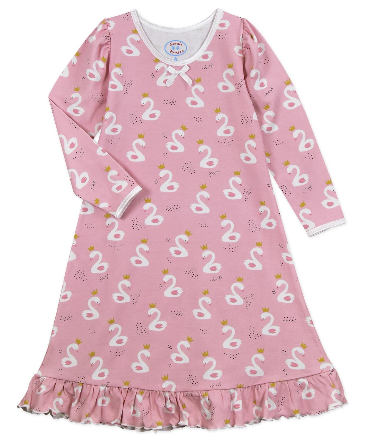 Saras Prints Super Soft Pink Nightgown