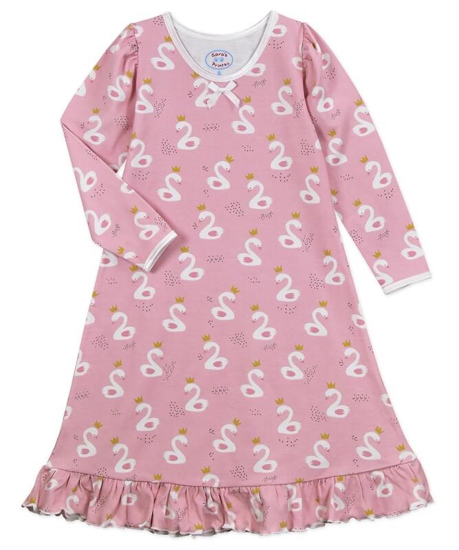 Saras Prints Super Soft Pink Nightgown