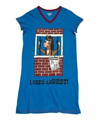 I Need A Rest Horse Sleep Shirt Size L/XL