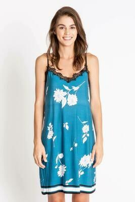PJ Salvage Blue Floral Shelf Bra Chemise Size XS, L  Only 1 ea