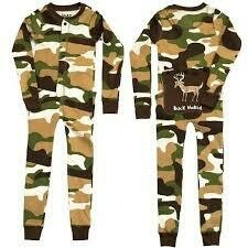 Green and Brown Camo FlapJack Onesie.  Size 2-8