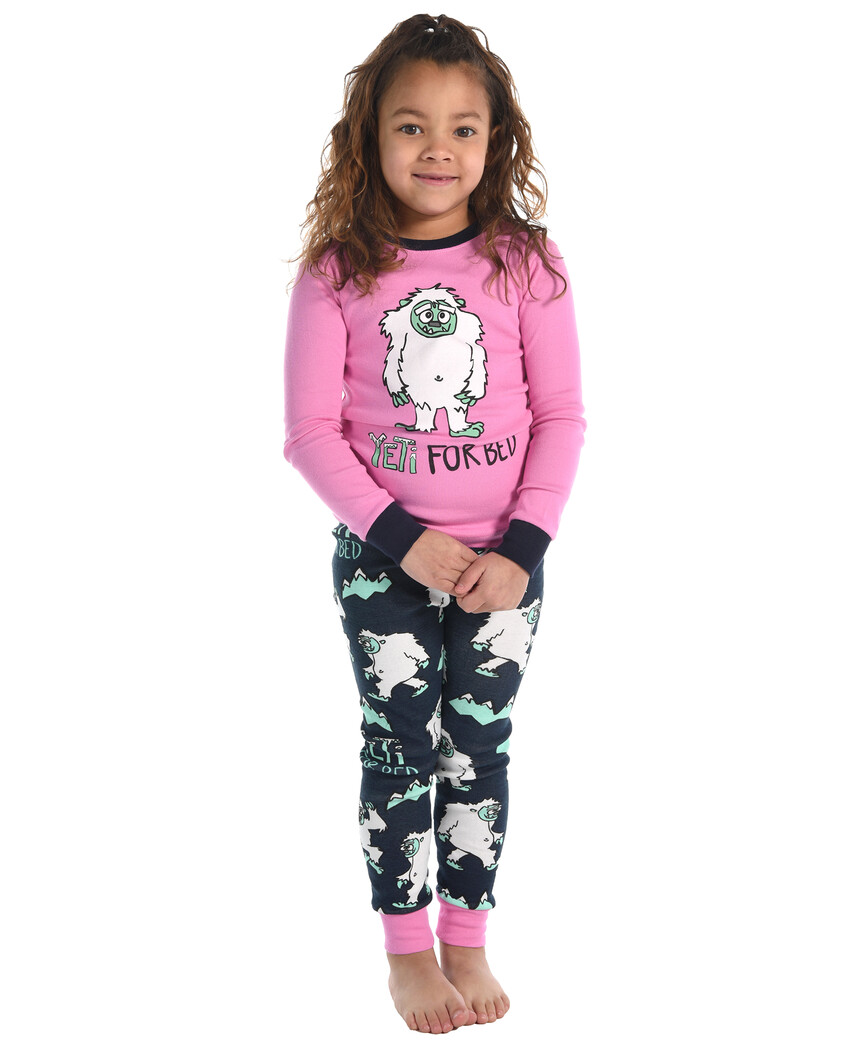 Pink Yeti For Bed.  Size 3, 4, 8, 10