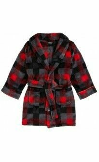 Red Black Grey Checkered Robe Size 6 Only 1 left