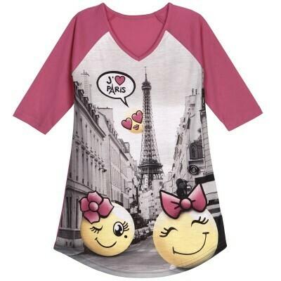 Super Soft  J'Aime Paris, I love Paris PJ Nightgown Size 2-6