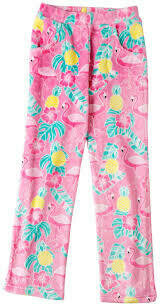 Flamingo Time Fun Fleece Pajama PJ Pants Size 6/6X, 7/8