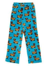 Hot Dog Weiner Dog Fleece Pajama PJ Pants Size 2/3, 4/5, 6/6x, 14/16